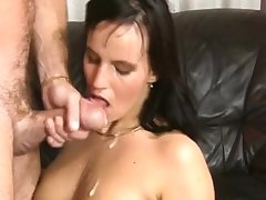 Fabulous amateurish full blowjob with facial cumshot
