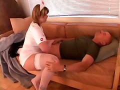 Big assed oversexed care with big breasts makes her patient make for more