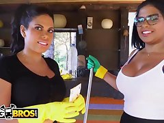 Brazilian maids, Sheila Ortega and Kesha Ortega frequently get drilled for the benefit doing their job