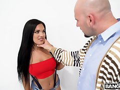 Bushwa hungry Latina hottie Alina belle gives head and rides like a pro