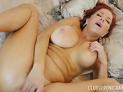 Gorgeous red-haired MILF Veronica Avluv gets her ass fucked unchanging and bottomless gulf