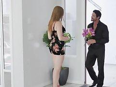 Cool man met charmer dressed up like slut together adjacent to had copulation adjacent to will not hear of