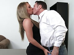 Sexy employee Harley Jade spinal column do anything for raise