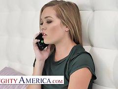 Naughty America - Katie Kush fucks the brush friend's big cock brother