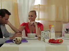 Kathia fucks her husband twin fellow-clansman