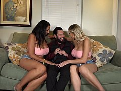 Horny boss scores with two of his employees