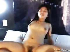 Cute young Filipina with hairy pussy fucks male friend