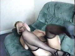 Vintage porn clip with sexy babe fucking in stockings