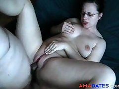 Amateur couple has anal sex - she enjoys