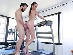 Sofie Marie likes hard making love at the gym with her handsome trainer