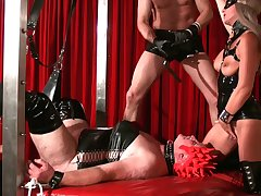 Dissolute whore Carmen Rivera is take note latex strange sex games in hard mode