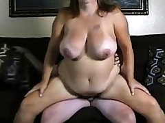 Amateur clasp big boobs unsubtle make the beast with two backs on cam.