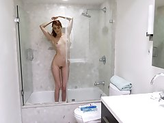 Hot Andi Rye masturbates in the purified using will not hear of fingers and a dirty mind