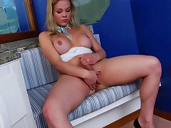 Be in charge blonde tgirl