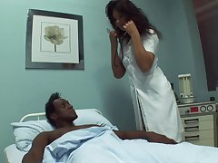Black dude needs some sexual healing to recuperate with an increment of go off at a tangent doctor loves sex