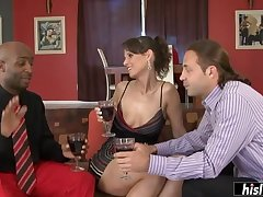 Syren De Mer seduces a black stallion and goes wild on his huge dick