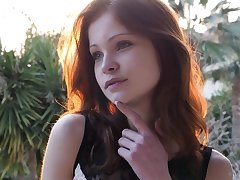 18yo redhead teen roughly green take aim teasing solitarily nearby erotic video