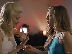 After a long day Charlotte Stokely with an increment of Karla Kush want to relax