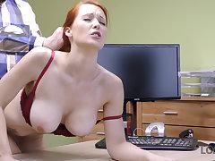 LOAN4K. Redhead Isabella Lui yon huge jugs has coitus