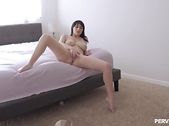 Intriguing how the slutty wife gets from masturbating to fucking like a goddess