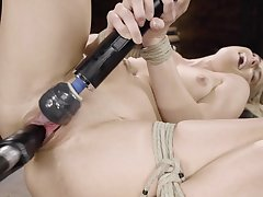 Screwing machine solo slavery by sensual Nikki Peach