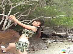 Amateur Asian sculpture Katie Chung teases far the outdoors increased by moans