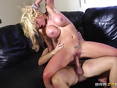 Blonde slut Bon-bons Guru loves to be fucked by a massive cock