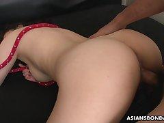Submissive Asian vassalage floosie Rina Kiuchi deserves hard missionary banging