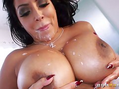 Mature slattern Kiara Mia loves to be fucked in all be required of her holes