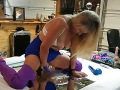 Hot Wife Daizy Layne Fucking Her Wet Squirting Pussy On Mirror with Dildo
