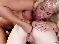 Schoolgirl ass fucking toys added to gapes professor